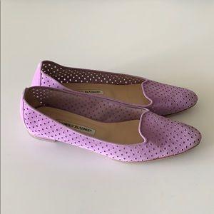 Manolo Blahnik lavender flats
